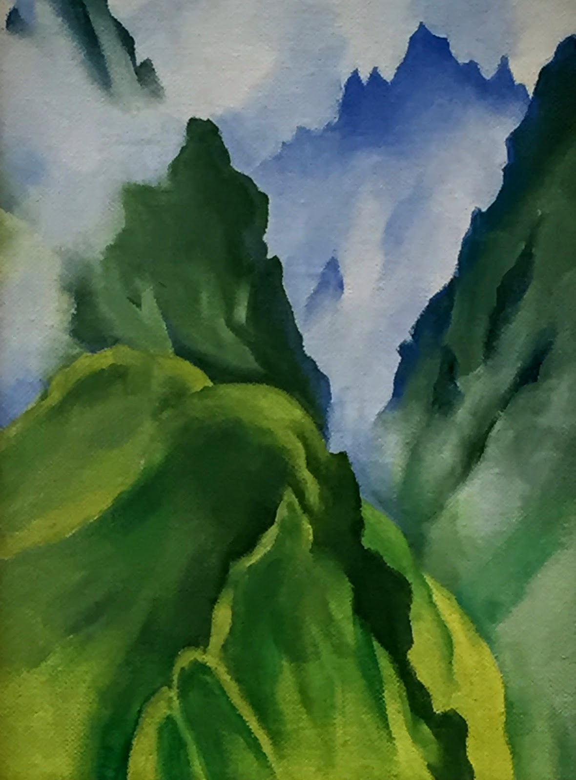 Georgia O Keeffe Last Unassisted Oil Painting In