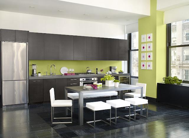 Ide Warna untuk Ruang Makan Minimalis Dekat dengan Dapur
