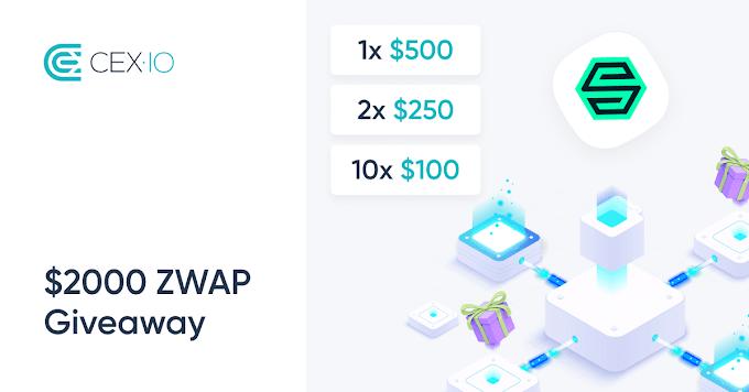 احصل على فرصة ربح 2000 دولار من عملة ZWAP مع CEX