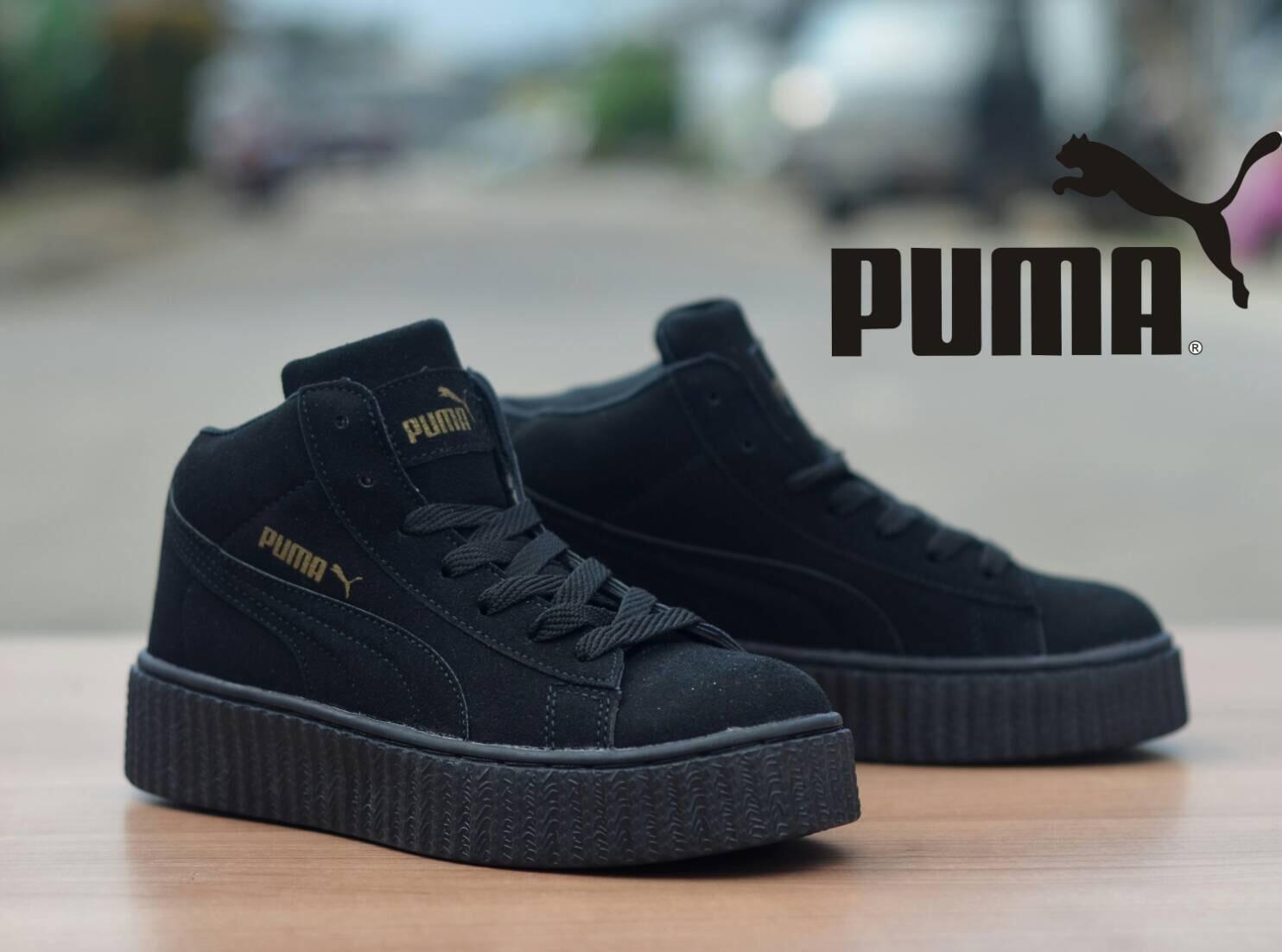 Sepatu Puma Rihanna Women Full Black - Pesyen Store cbfa682724