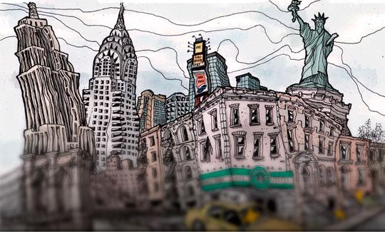 Ilustración, New York de Fernando Neyra aka Fer Neyra