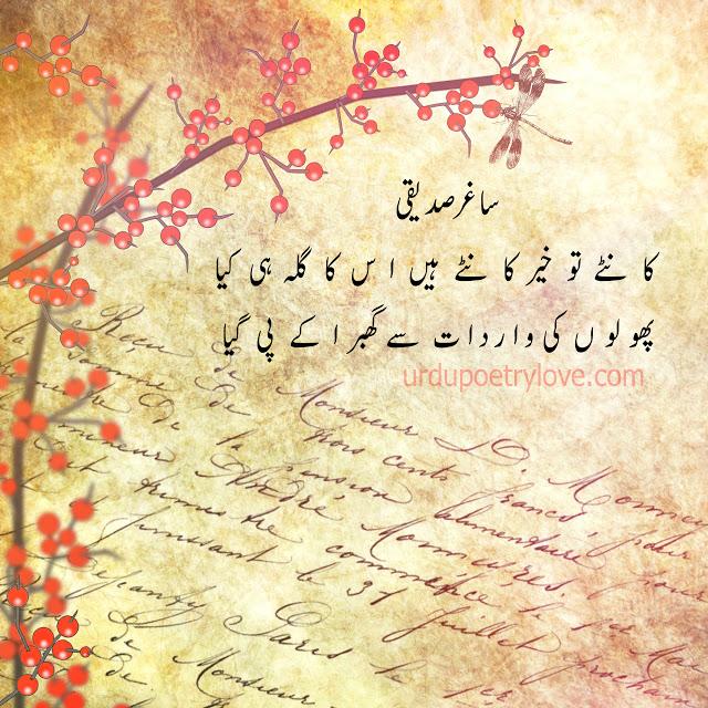 Urdu Poetry | Saghar Siddiqui | 15 Best Poetry Images