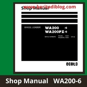 Komatsu shop manual wa200-6 wa200-6pz