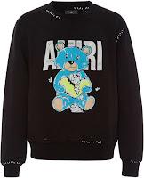 Amiri Teddy Repair Cotton Sweatshirt