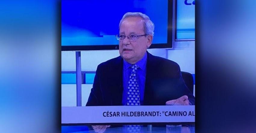 Fuerza Popular está jugando al fracaso del Gobierno, sostiene destacado periodista César Hildebrandt