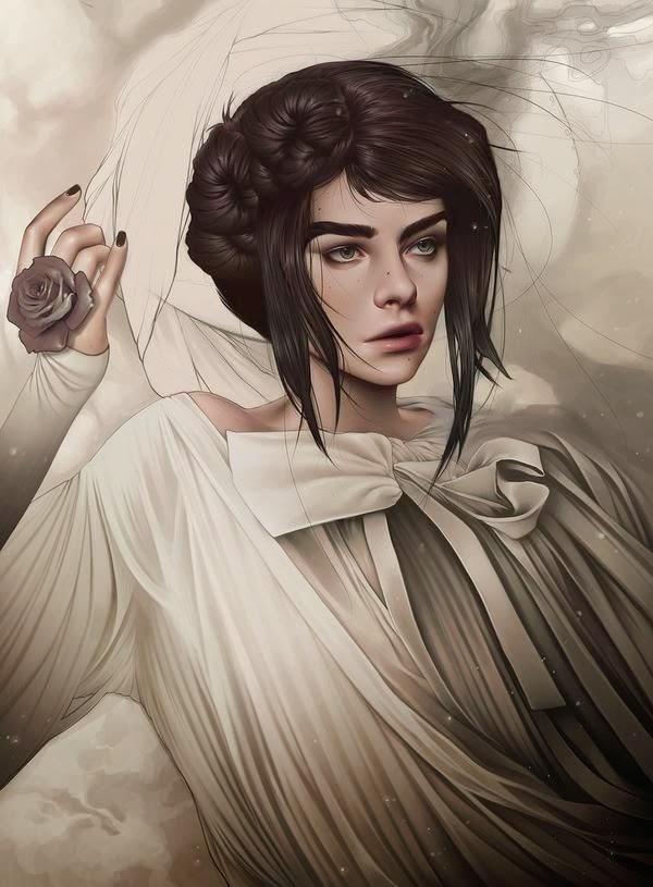 Fantásticas ilustraciones de mujeres.