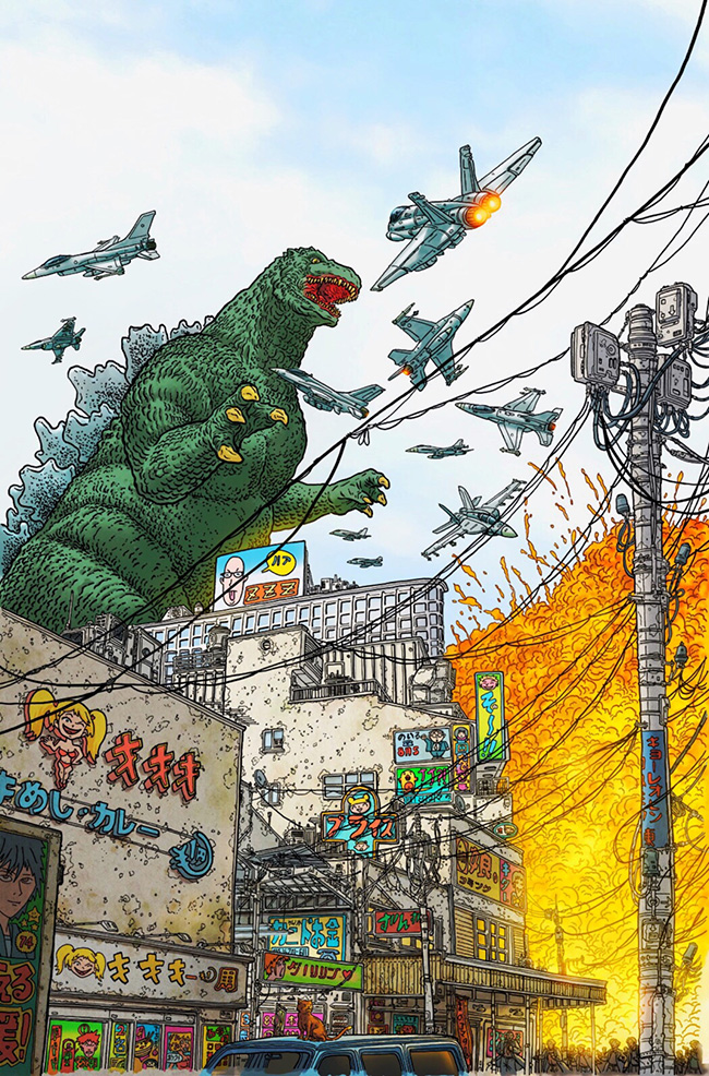 Geof Darrow (US) - Godzilla art