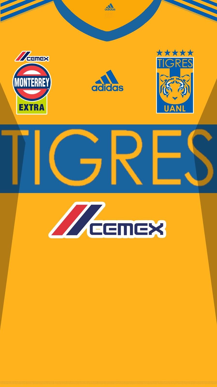 Wallpaper Jersey Club De Fútbol Tigres De La Universidad Autónoma De