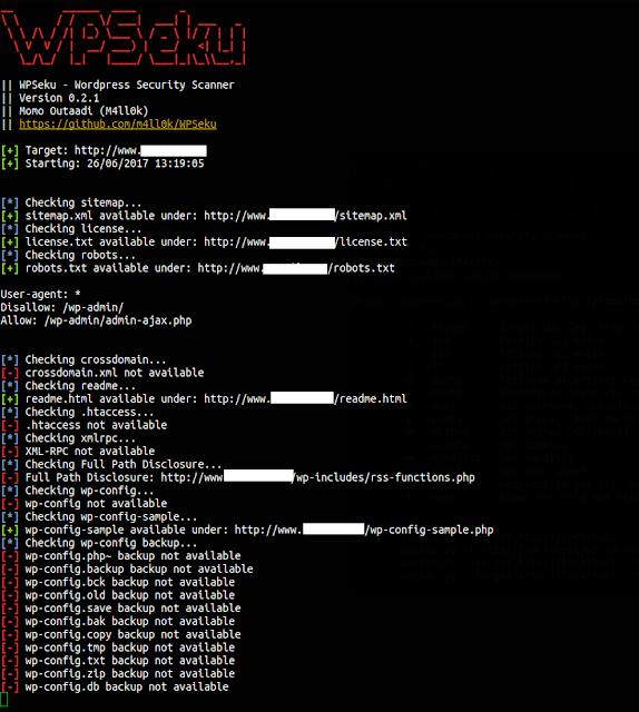 شرح اداة WPSeku لفحص مواقع الورد برس WordPress من الثغرات