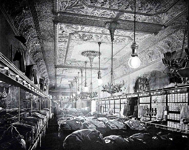 a 1904 clothing store interior