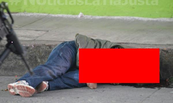 """Comerciante cansado de """"Pagar piso"""", elimino a balazos a sicario """"cobrador"""