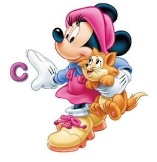 Abecedario de Minnie con Gatito.