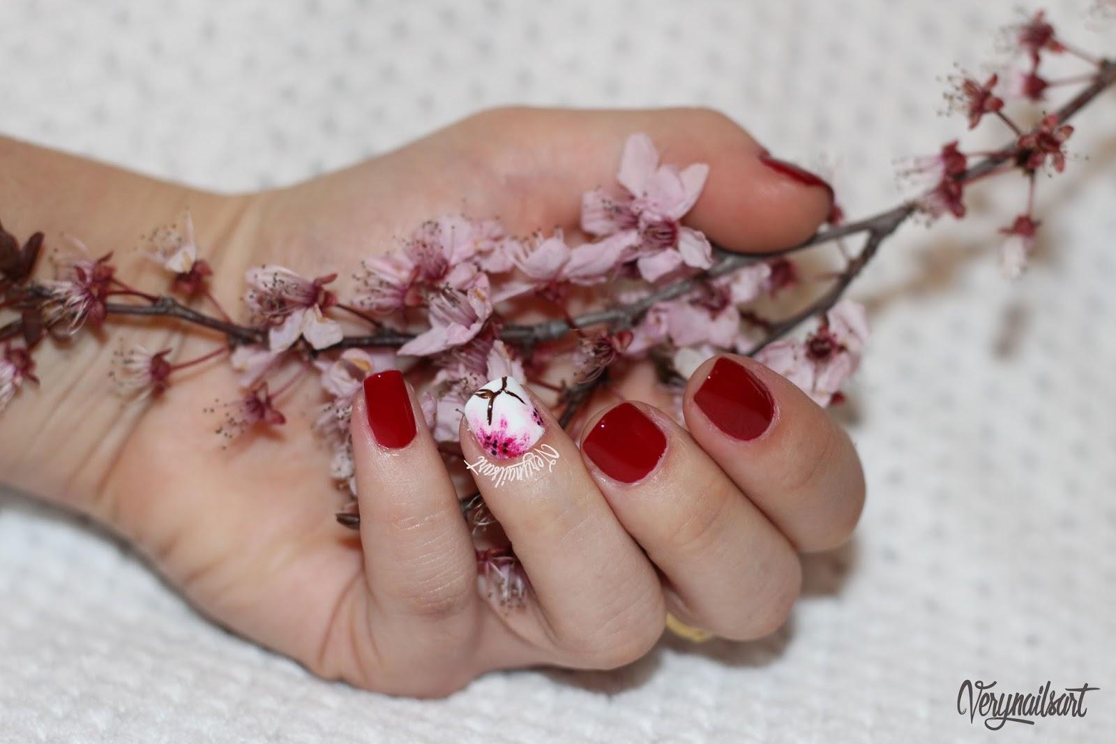 Flores para uñas paso a paso | Cerezo | VeryNailsArt | Blog de uñas ...