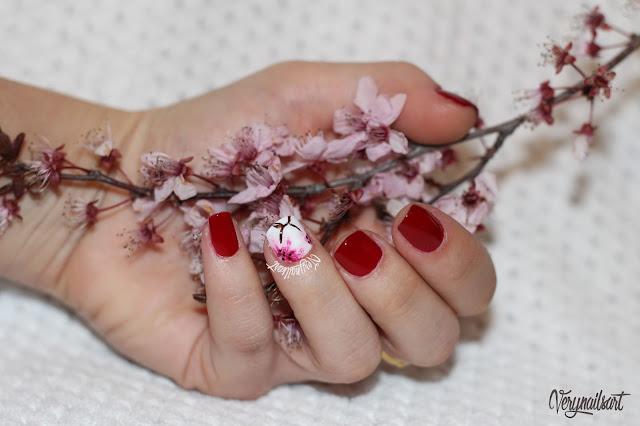Flores para uñas paso a paso | Cerezo