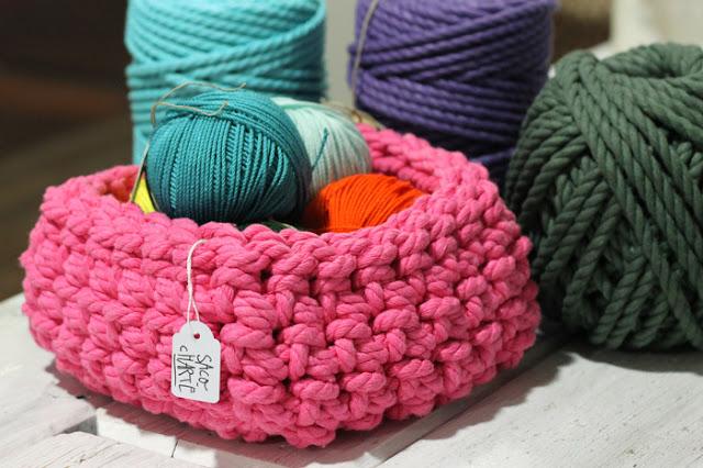Ideas para almacenar lanas kittelisa - Cesta de cuerda y ganchillo ...