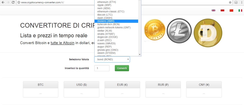 convertitore di valuta bitcoin a usd