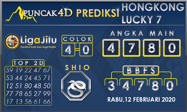 PREDIKSI TOGEL HONGKONG LUCKY7 PUNCAK4D 12 FEBRUARI 2020