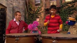 Abby Cadabby sees the timpani. Abby Cadabby, Bob, Grover, Sesame Street Episode 4326 Great Vibrations season 43