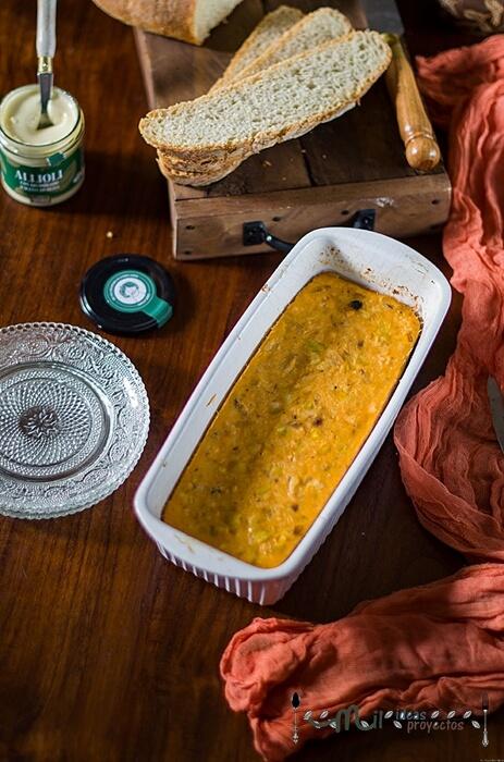 pastel de pescado frío