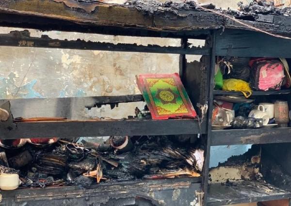 Viral Penampakan Al-Quran Utuh di Dalam Rumah yang Ludes Terbakar di Surabaya