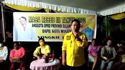 Youngkie Limen Anggota DPRD Provinsi Sulut Gelar Reses III Di Ranomut Kota Manado
