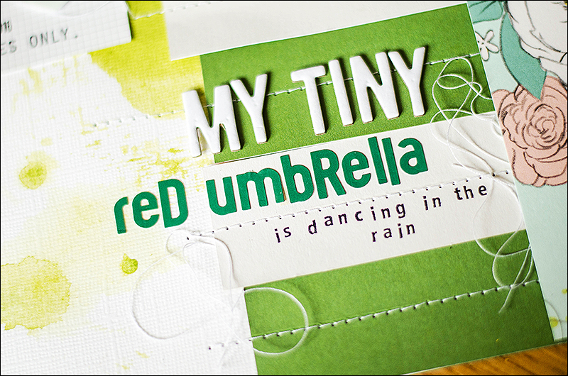 Stephanie Berger - Scrapbooking Layout - CreativeScrappers - Red Umbrella
