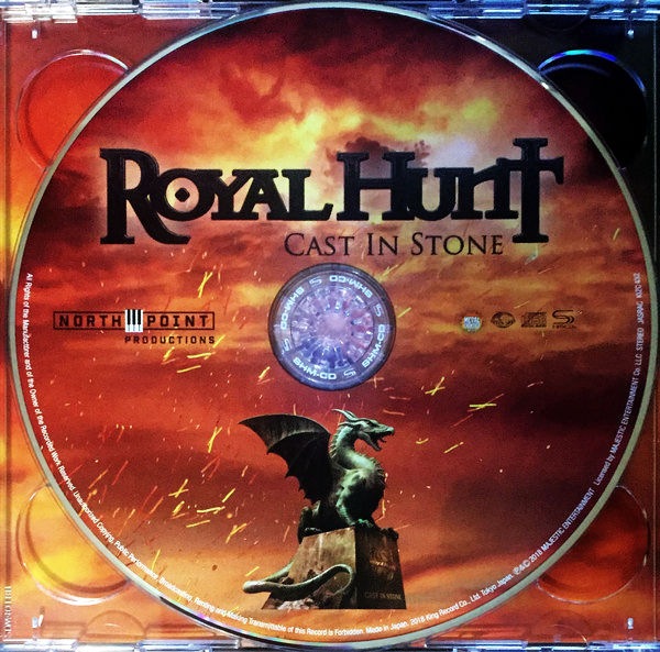 ROYAL HUNT - Cast In Stone [Japanese Edition] (2018) cd