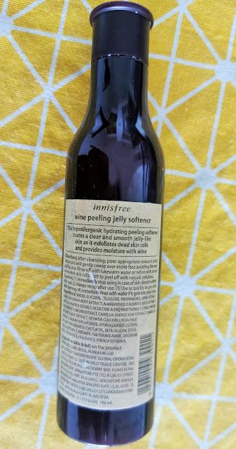 Innisfree Wine Peeling Gel Packaging