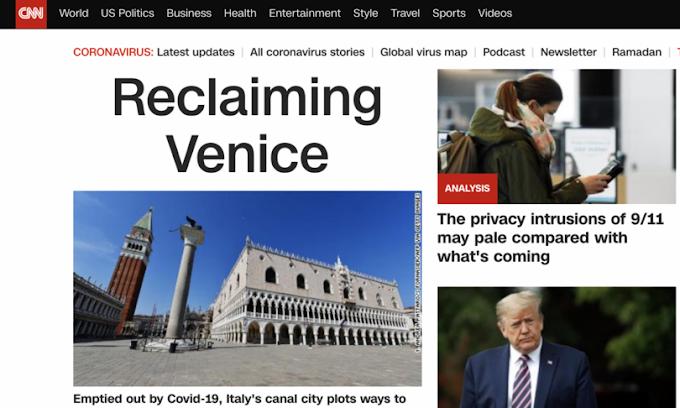 """""""Mai più orde di turisti dopo il Covid"""", Venezia apre il sito della Cnn"""