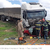 Quatro pessoas morrem em acidente entre caminhão e carro na BR-304. Acidente aconteceu na altura de Santa Maria.