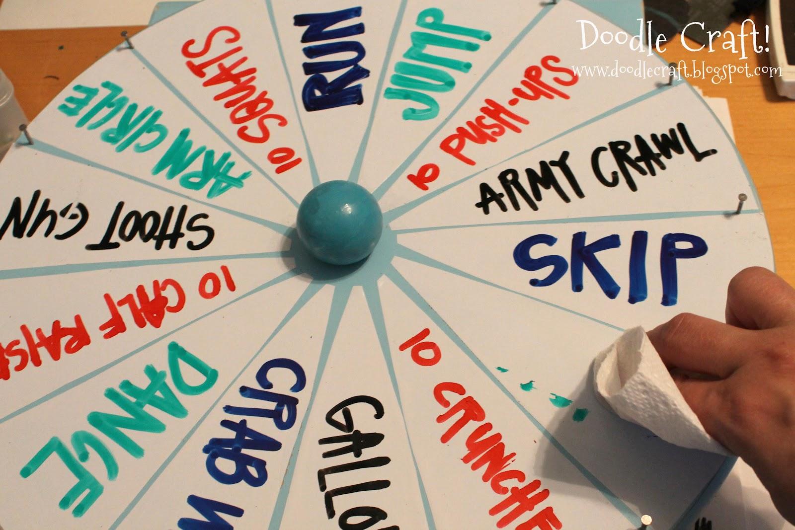 doodlecraft: super spinning prize wheel diy!