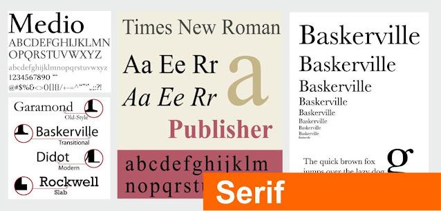 Tipografías Serif