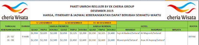 cheria wisata adalah biro perjalanan tou travel haji dan umroh di Jakarta
