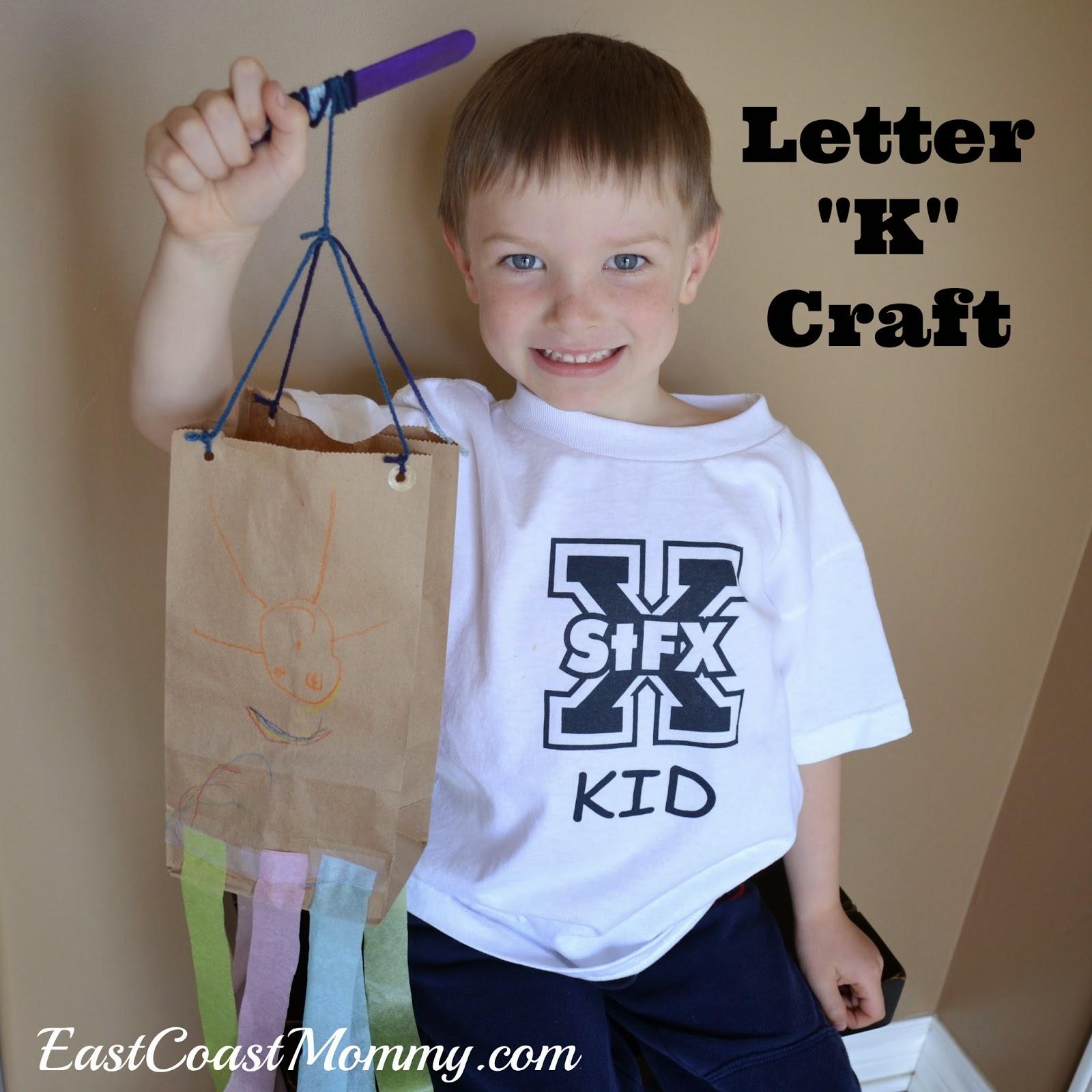 alphabet crafts letter k