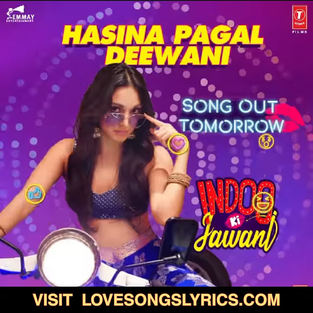 Hasina Pagal Deewani Song Lyrics