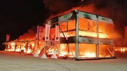 Incendio del paddock Energica nel circuito di Jerez
