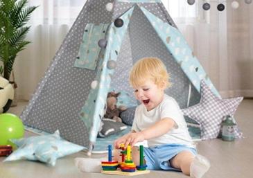Merapikan Mainan Anak