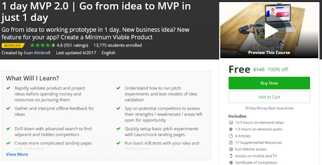 [100% Off] 1 day MVP 2.0 | Go from idea to MVP in just 1 day| Worth 145$