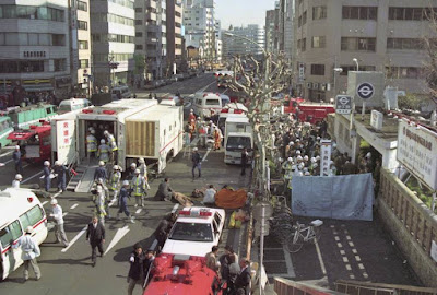 The sarin gas attack by Aum Shinrikyo on the Tokyo subway system on March 20, 1995.
