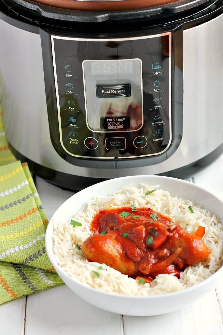 Pressure Cooker Sausage Casserole