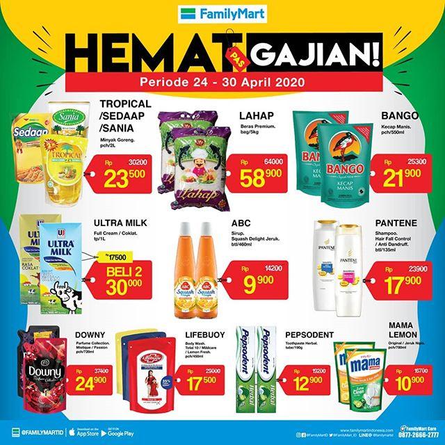#FamilyMart - #Promo Katalog Hemat Pas Gajian Periode 24 - 30 April 2020