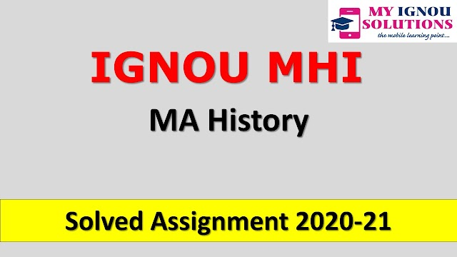 MHI Solved Assignment 2020-21