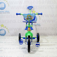 green tongkat sandaran bmx tricycle
