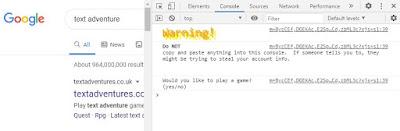L'Oeuf de Pâques de Google  : Text Adventure