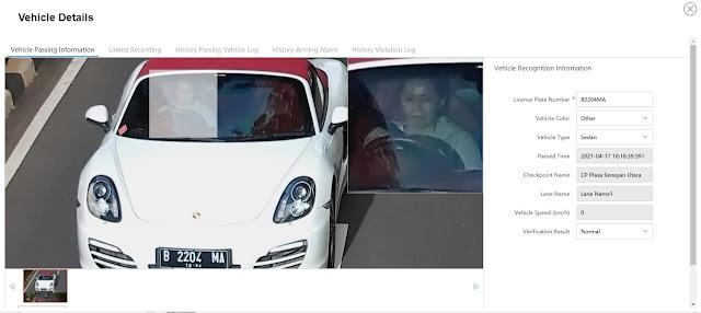 Ini Tampang Pengemudi Porsche Penerobos Busway di Gandaria Jaksel