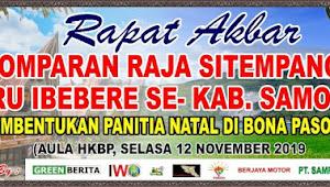 Besok, Rapat Akbar Pomparan Raja Sitempang Kabupaten Samosir