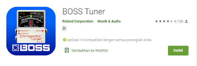 boss tuner by roland