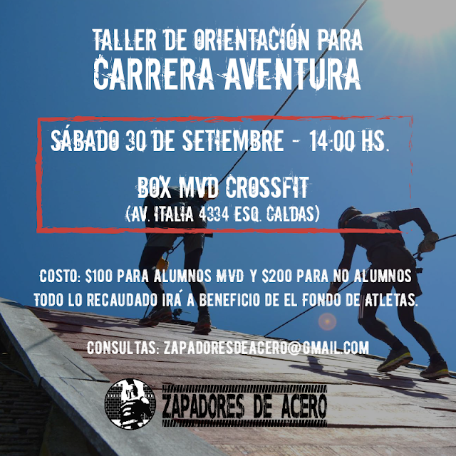 Taller de orientación para carrera aventura de Zapadores de acero y CrossFit MVD (30/sep/2017)