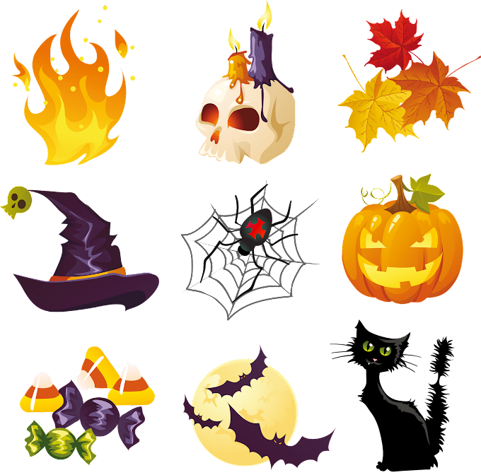 assorted Halloween illustrations, Halloween, Halloween s Collection, happy Halloween, flower png by: pngkh.com