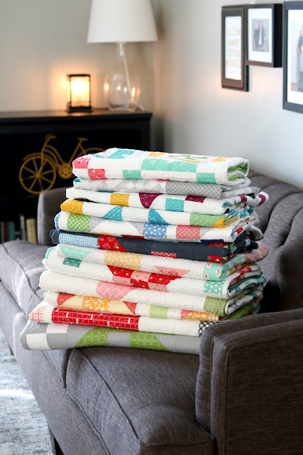 Quilts from the Fresh Fat Quarter Quilts book by Andy Knowlton of A Bright Corner - 12 fun quilt projects that are all FQ friendly